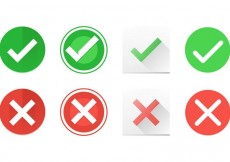 Free vector Correct and Incorrect Symbol Vector Icons #17437