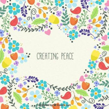 Free vector Creating poeace background #16365