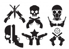 Free vector Crossed Gun Vectors #14529