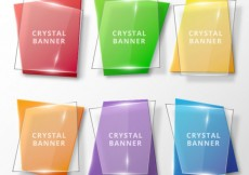 Free vector Crystal banners collection #17804