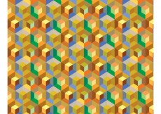 Free vector Cube Pattern Background Vector #13657