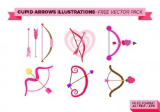 Free vector Cupid Arrows Illustrations Free Vector Pack #16554