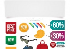 Free vector Customizable fashion offer banner #16463