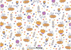 Free vector Cute Bee Background #13171