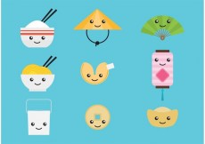 Free vector Cute Chinese Vector Characters #19573