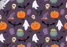 Free vector Cute halloween pattern #15852