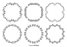 Free vector Cute Hand Drawn Style Decorative Frame Set #16538