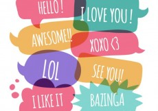 Free vector Cute speech bubbles with expressions #19804