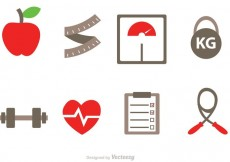 Free vector Diet Vector Icons #17072