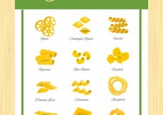 Free vector Different types of pasta #14483