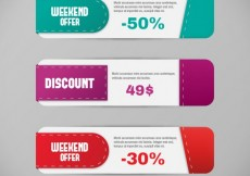 Free vector Discount banners #16120