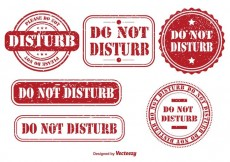 Free vector Do Not Disturb Rubber Stamps #17134