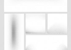 Free vector Dotted banners in abstract style #14687