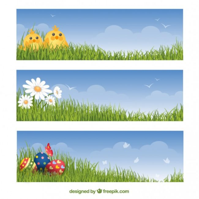 Free vector Easter banners set #20172