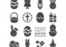 Free vector Easter icons #19668