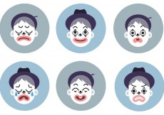 Free vector Emotional Mime Vector Set #15479