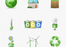 Free vector Environmental icons for earth day #19023