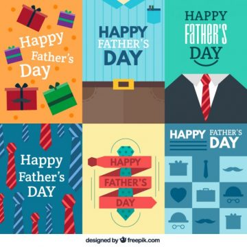Free vector Fathers day cards collection #17636