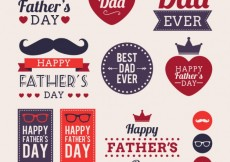 Free vector Fathers day labels #17780