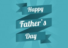 Free vector Fathers day ribbon #15358