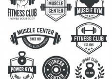 Free vector Fitness club badges #12674