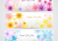 Free vector Floral banners in spring style #20084