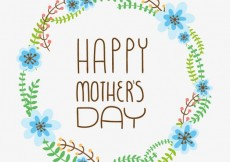 Free vector Floral card for mothers day #19282