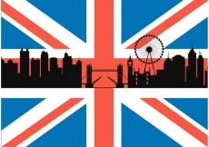 Free vector Free British Flag With London Cityscape Vector #19971