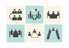 Free vector Free Business Meeting Tables Vector Icons #16910
