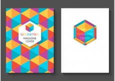 Free vector Free Colorful Geometric Magazine Vector Covers #18007
