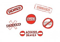 Free vector Free Denied Stamp Vector Series #13891