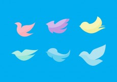 Free vector Free Flat Birds Vector Set #16620