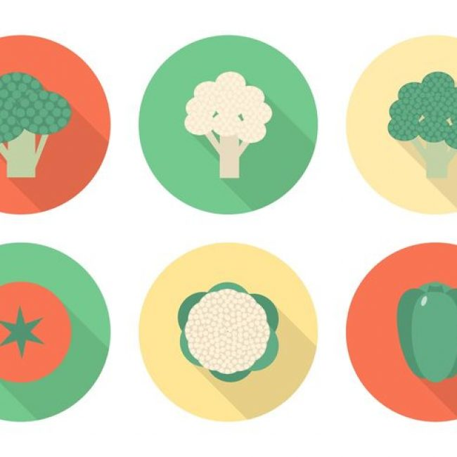 Free vector Free Flat Vegetables Vector Icons #15525