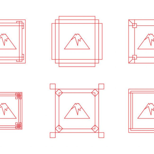 Free vector Free Fuji Mount Border Frame Vectors #19076