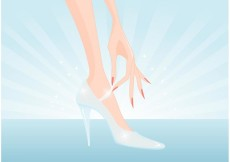 Free vector Free Glass Slipper Vector #20039