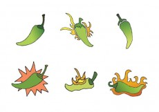 Free vector Free Green Hot Pepper Vector Series #16456