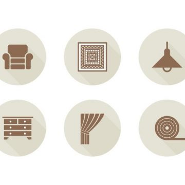 Free vector Free Home Interior Related Vector Icons #15533