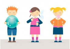 Free vector Free Kids Blowing Balloon, Bubbles And Bubblegum Vector #19319
