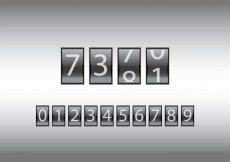 Free vector Free Number Counter Vector Illustration #15738