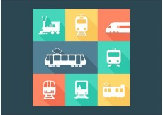 Free vector Free Railway Transportation Vector Icons #16936