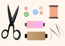 Free vector Free Sewing Kit Vector #14430