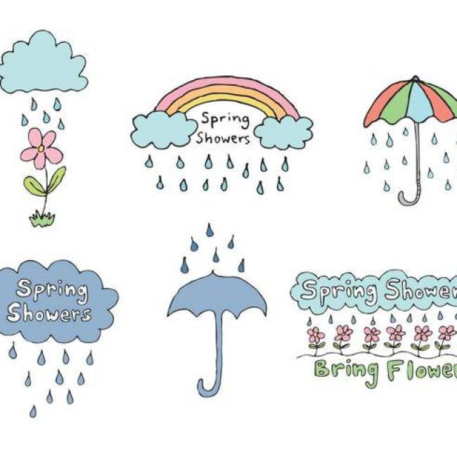 Free vector Free Spring Showers Vector Series #15893