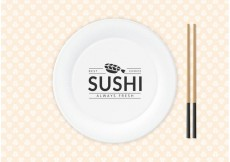 Free vector Free Sushi Logo On Paper Plate Vector #16872