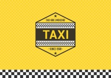 Free vector Free Taxi Label With Checkered Background #14602