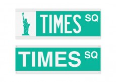 Free vector Free Times Square Street Sign Vector #18082