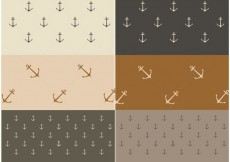 Free vector Free Vector Nautical Patterns #20103
