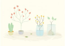 Free vector Free Vector Plants in Pots and Jars #17493