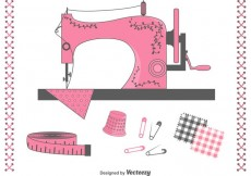 Free vector Free Vector Sewing Items Set #18230