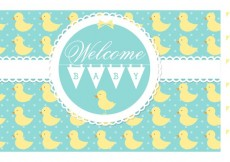 Free vector Free Vector Welcome Baby Card #18061
