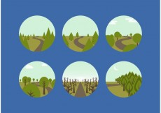 Free vector Free Vector Woodland Paths #19437